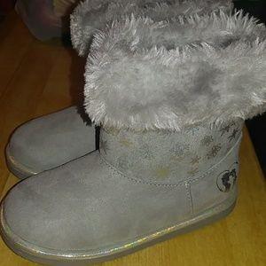 Girls frozen furry booties size 9 NEW
